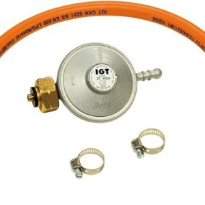 Barbecook Gasregulator + Slang 30 Mbar - Oranje