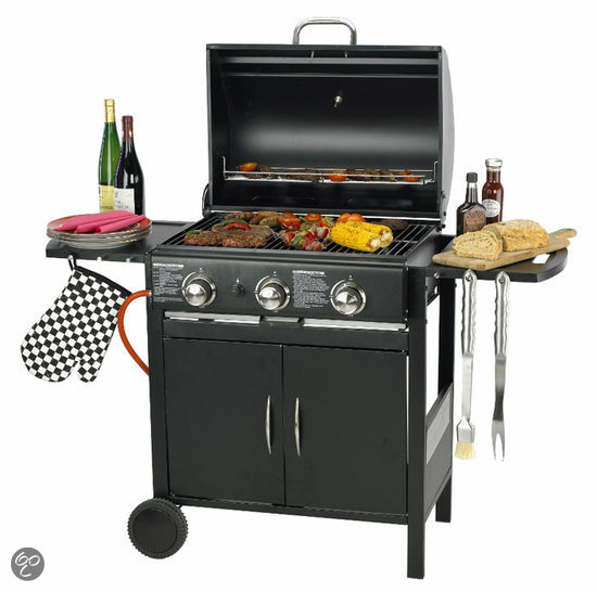 Kooki barbecues ds54960 - Plancha trolley gas met deksel ...